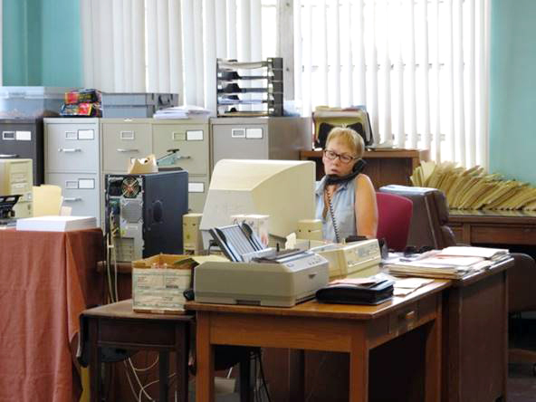 Acme Janitor Equipment office - employee